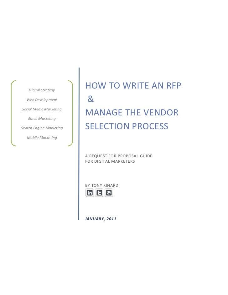 Digital Strategy                          HOW TO WRITE AN RFP  Web Development          &Social Media Marketing   Email Ma...