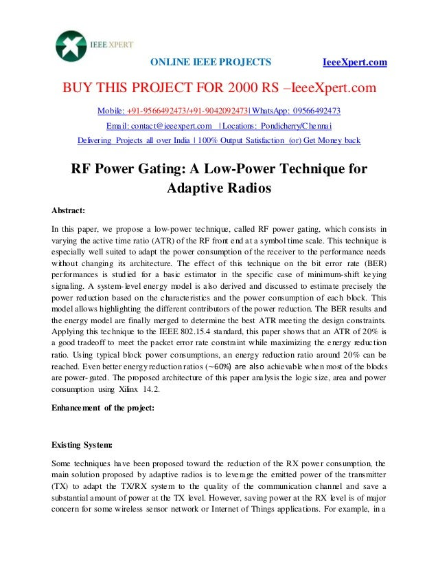 ONLINE IEEE PROJECTS IeeeXpert.com BUY THIS PROJECT FOR 2000 RS –IeeeXpert.com Mobile: +91-9566492473/+91-9042092473| What...