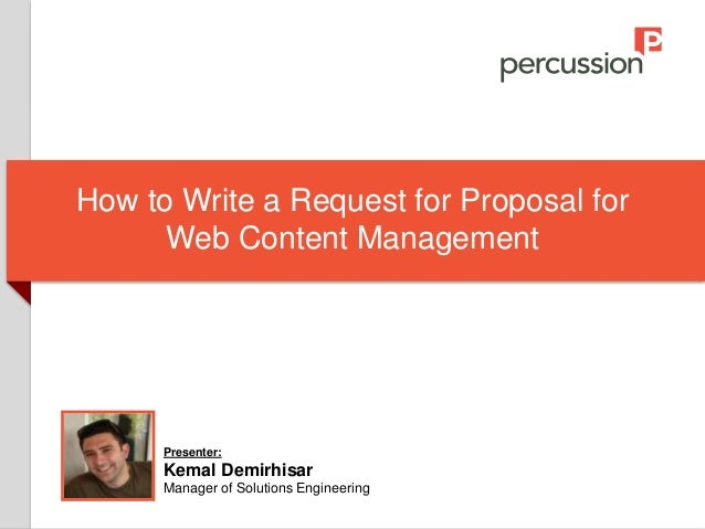 How to Write a Request for Proposal (RFP) for Web Content