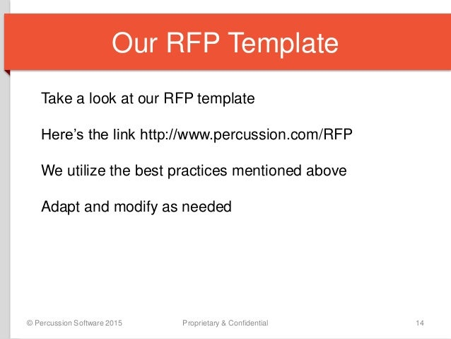 How To Write A Request For Proposal Rfp For Web Content Management