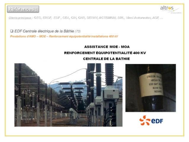  EDF Centrale électrique de la Bâthie (73) Prestations d'AMO – MOE – Renforcement équipotentialité installations 400 kV R...