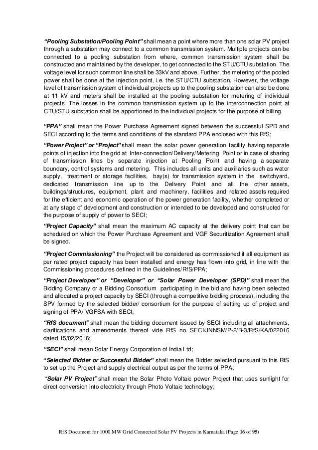 Rfp For 1000 Mw Solar Pv Power Projects Under Jnnsm Phase Ii Batch Ii