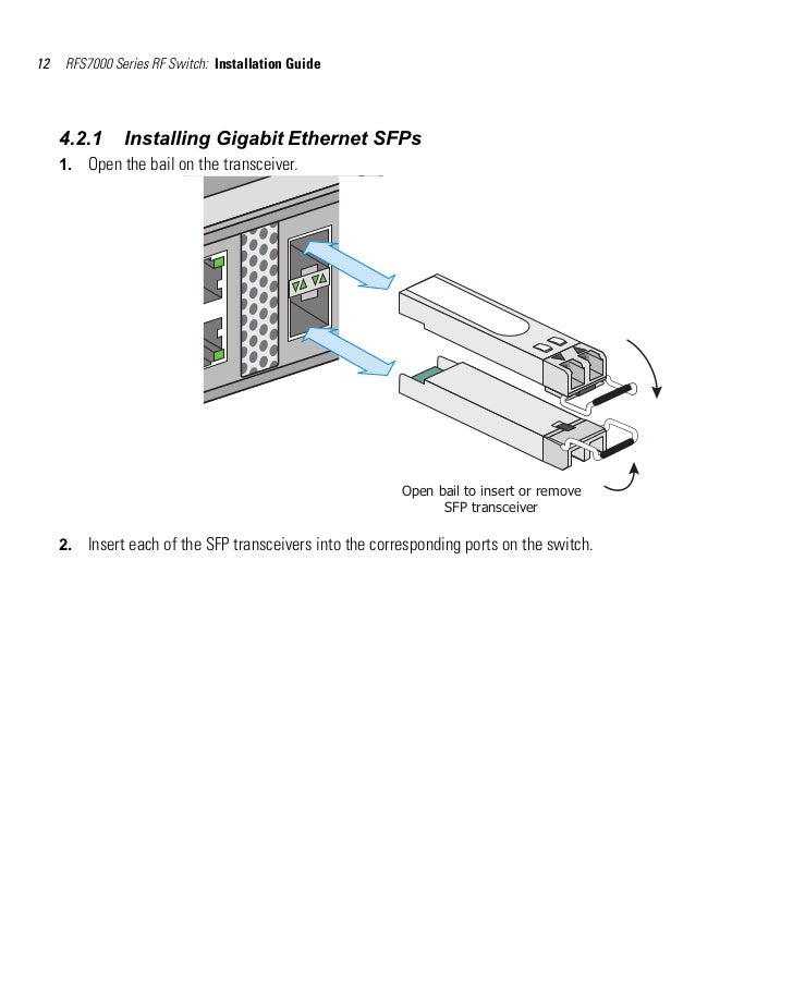 Rfs7000 series switch installation guide