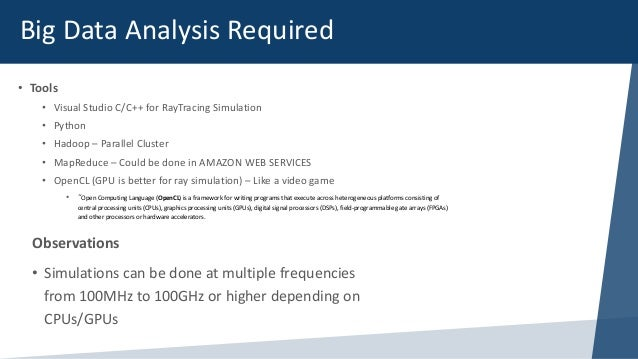 Big Data Analytics in RF - LTE - 4G Environments