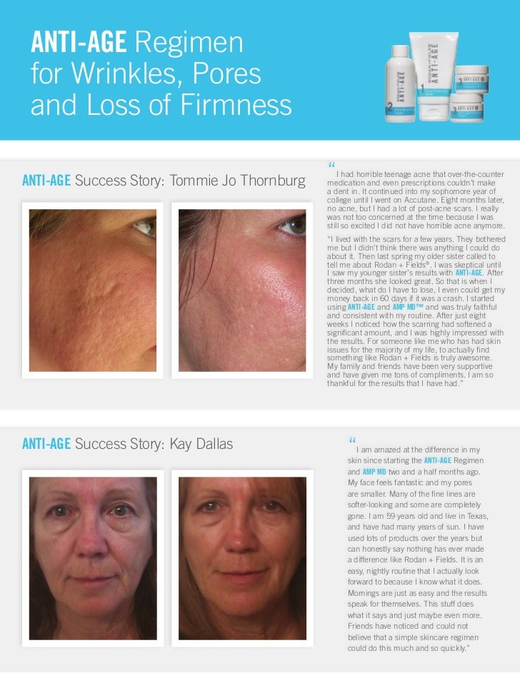 ANTI-AGE Regimen for Wrinkles, Pores and Loss of FirmnessANTI-AGE Success Story: Tommie Jo Thornburg                      ...