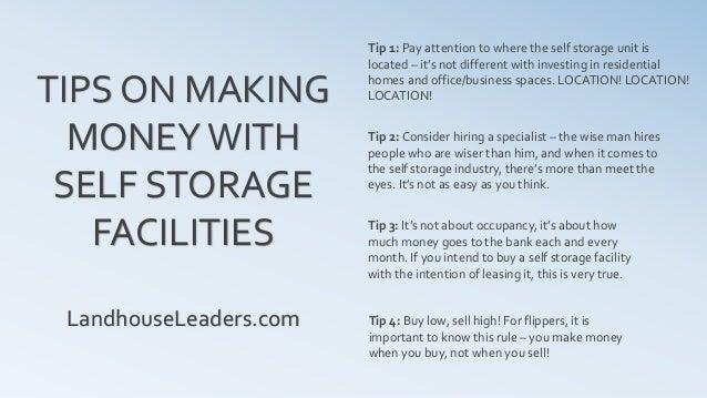 Investing In Self Storage Facility