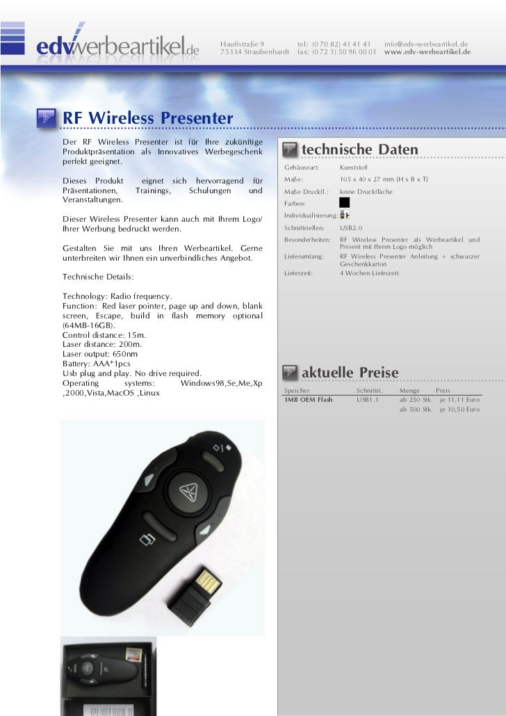 Rf Wireless Presenter