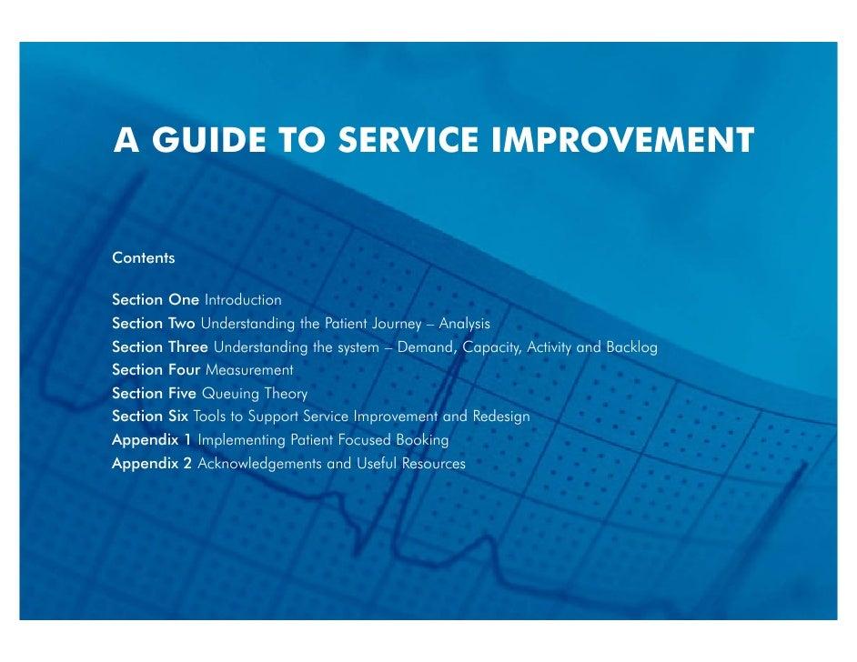 Rg0035 A Guideto Service Improvement Nhs Scotland