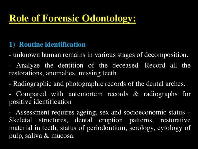 Forensic Odontology By Dr Revath Vyas Devulapalli