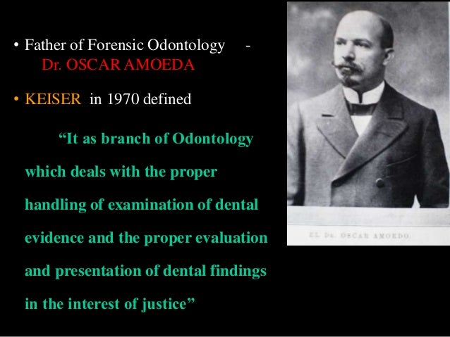 First case of forensic dentistry in american justice