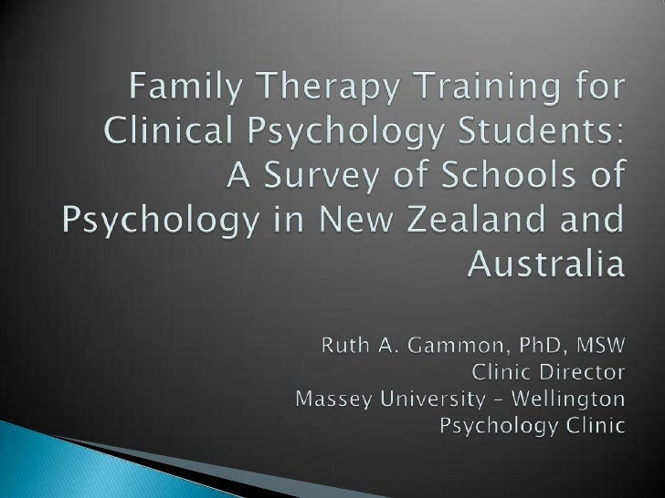 Family Therapy Training for Clinical Psychology Students: A Survey of Schools of Psychology in New Zealand and AustraliaRu...