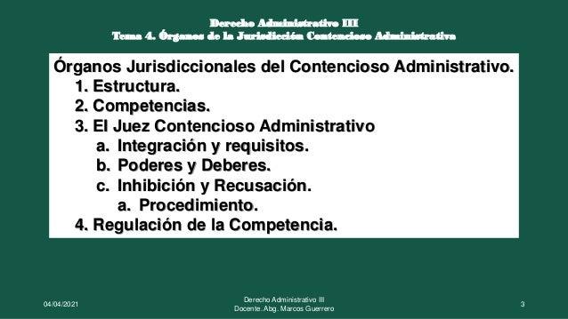 Órganos de la jurisdicción contencioso administrativa Slide 3