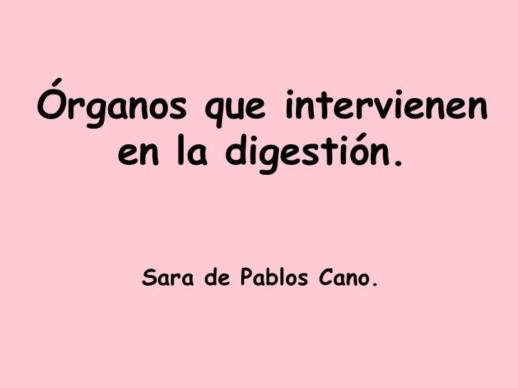 Órganos que intervienen en la digestión