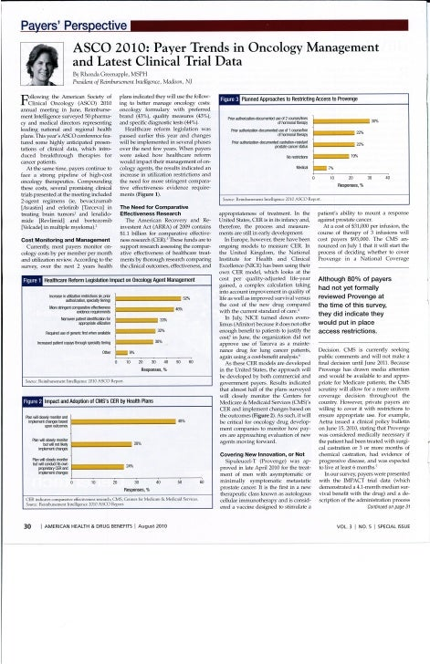 ASCO 2010: Payer Trends in Oncology Management and Latest Clinical Trial Data