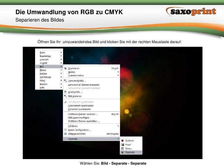 4<br />Saxoprint GmbH Digital- & Offsetdruckerei<br />Die Umwandlung von RGB zu CMYK<br />Kopieren der PlugIn Dateien<br /...