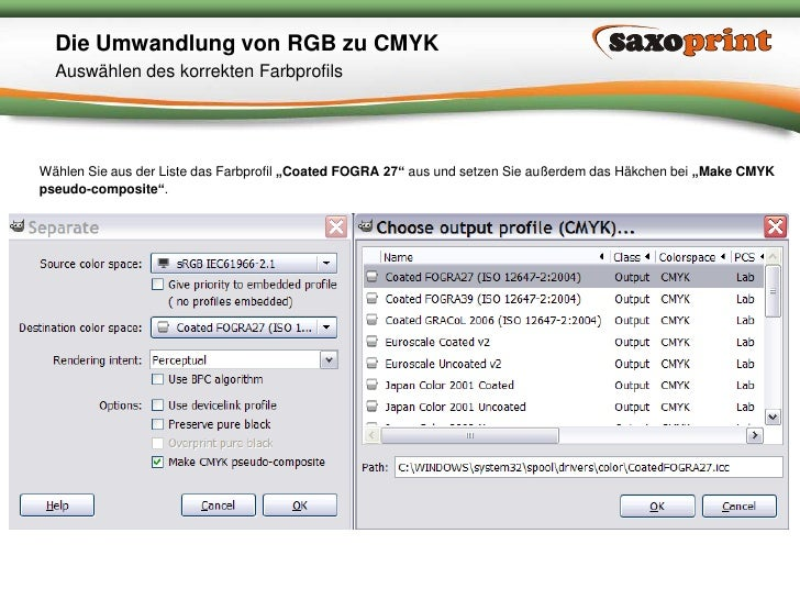 5<br />Saxoprint GmbH Digital- & Offsetdruckerei<br />Die Umwandlung von RGB zu CMYK<br />Separieren des Bildes<br />Öffne...