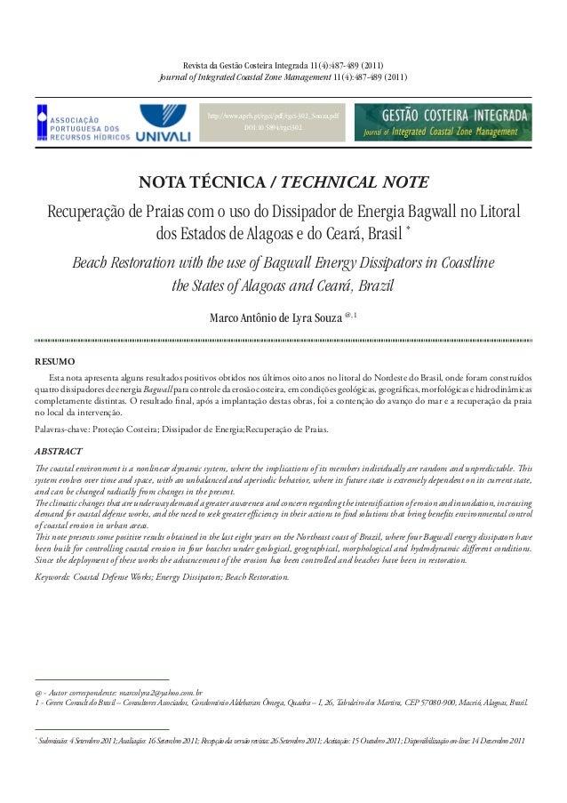 http://www.aprh.pt/rgci/pdf/rgci-302_Souza.pdf DOI:10.5894/rgci302 Recuperação de Praias com o uso do Dissipador de Energi...