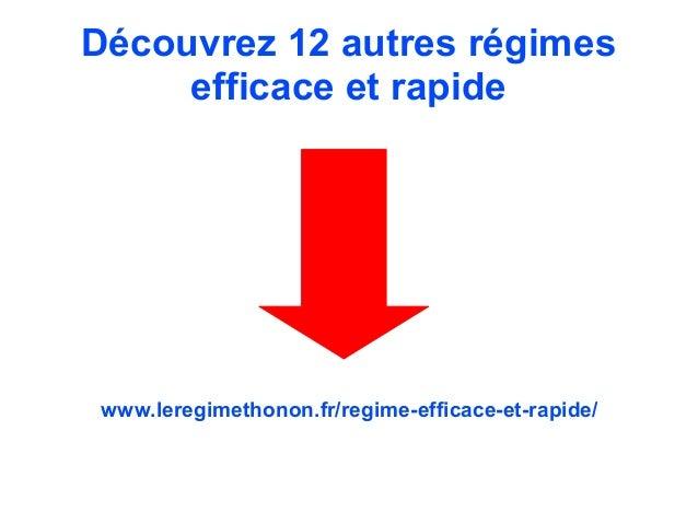 R gime efficace et rapide le regime 5 2 - Desherbant efficace et rapide ...