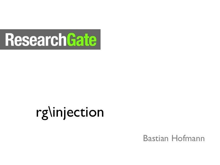 rginjection               Bastian Hofmann