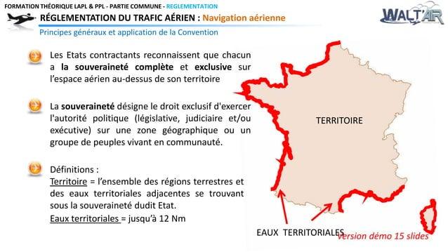 FORMATION THÉORIQUE LAPL & PPL - PARTIE COMMUNE - REGLEMENTATION  RÉGLEMENTATION DU TRAFIC AÉRIEN : Navigation aérienne  P...