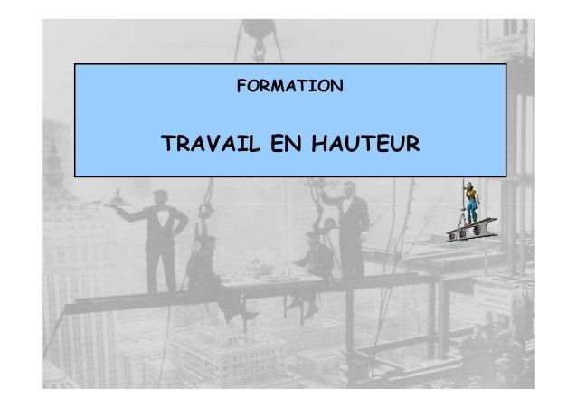 FORMATIONTRAVAIL EN HAUTEUR