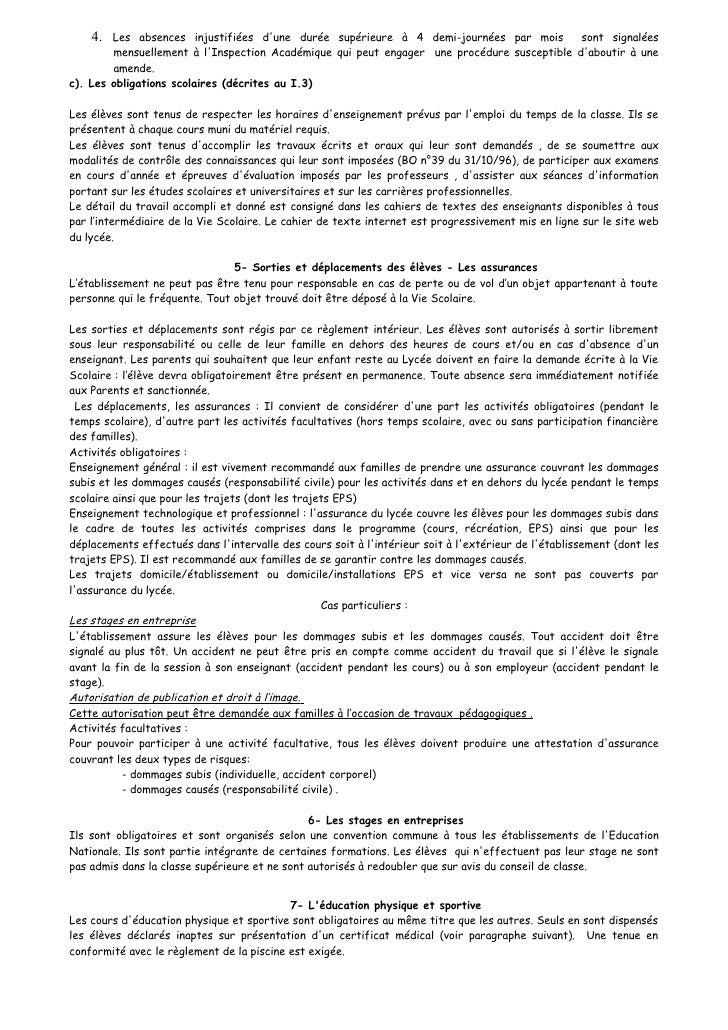 Règlement Intérieur 2009 2010 Slide 3