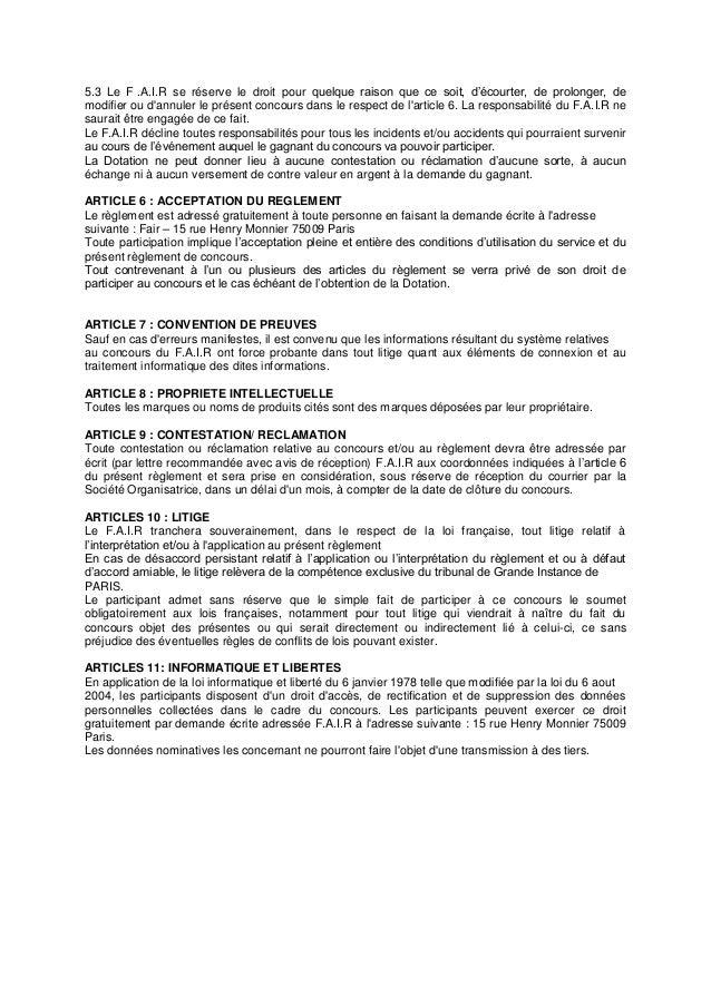 Règlement Jeu Concours Blindtest Fair Slide 2