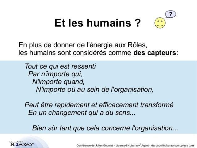 Et les humains ?  ?  En plus de donner de l'énergie aux Rôles,  les humains sont considérés comme des capteurs:  Tout ce q...
