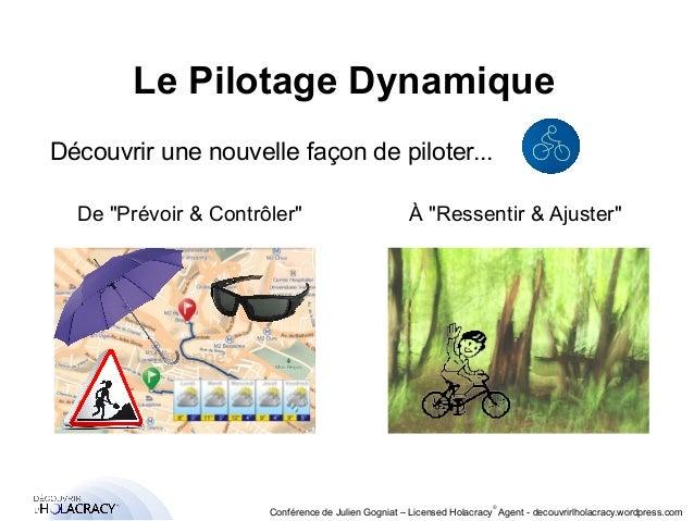 """Le Pilotage Dynamique  Découvrir une nouvelle façon de piloter...  De """"Prévoir & Contrôler"""" À """"Ressentir & Ajuster""""  ®  Co..."""