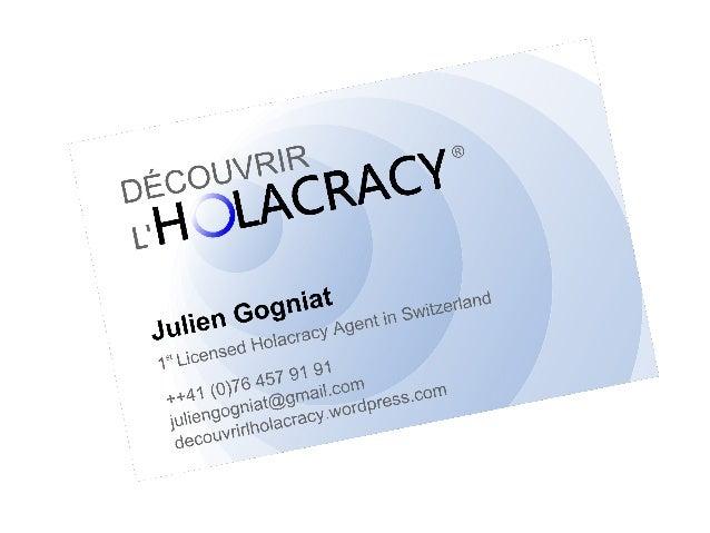 Holacracy - une nouvelle technologie sociale