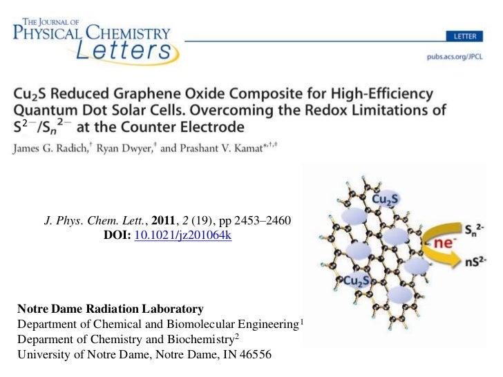 2    J. Phys. Chem. Lett., 2011, 2 (19), pp 2453–2460               DOI: 10.1021/jz201064kNotre Dame Radiation LaboratoryD...