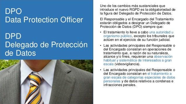 DPO Data Protection Officer DPD Delegado de Protección de Datos Uno de los cambios más sustanciales que introduce el nuevo...