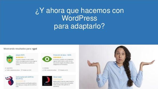 ¿Y ahora que hacemos con WordPress para adaptarlo?