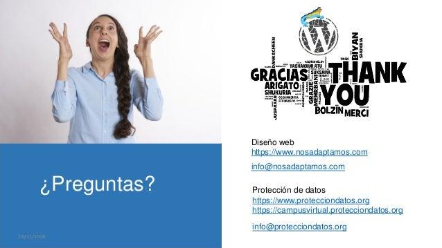 ¿Preguntas? info@nosadaptamos.com Diseño web https://www.nosadaptamos.com Protección de datos https://www.protecciondatos....