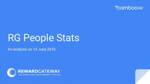 RG People Stats An analysis on 14 June 2016