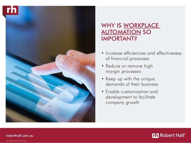 roberthalf.com.au © 2017 Robert Half. RH-0117-AUS-ENG •Increase efficiencies and effectiveness of financial processes •R...