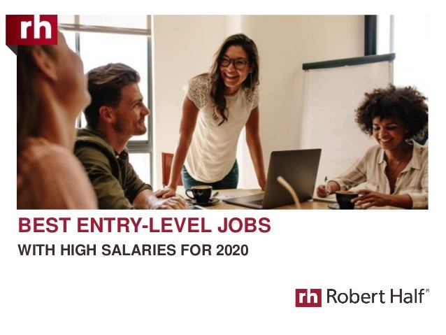 BEST ENTRY-LEVEL JOBS WITH HIGH SALARIES FOR 2020