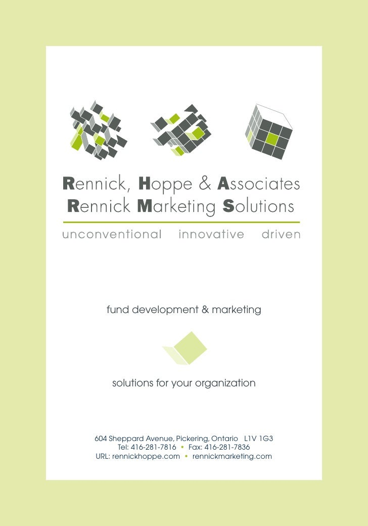 fund development & marketing         solutions for your organization     604 Sheppard Avenue, Pickering, Ontario L1V 1G3  ...