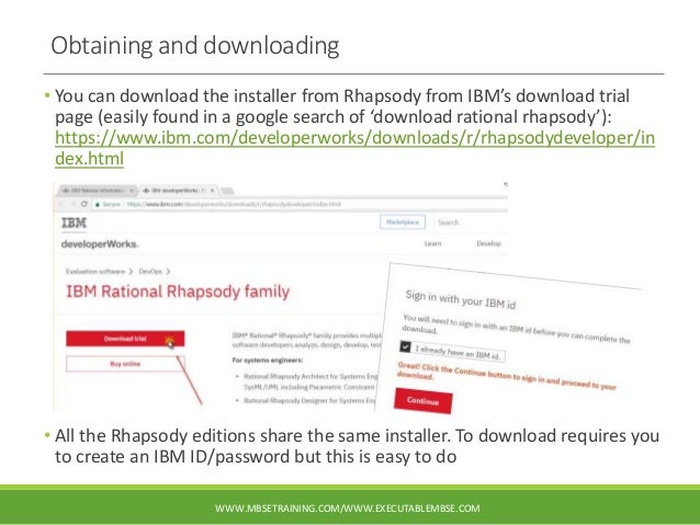 IBM Rational Rhapsody 8.4 install guide (including Cygwin and obtaining an evaluation) Slide 2