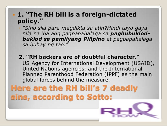 reaction paper about the rh bill In response to severe assaults on the law, the supreme court on 8 april   advocates, such as the reproductive health advocacy network,.