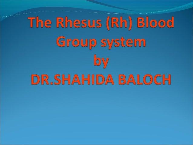 rh blood group ss