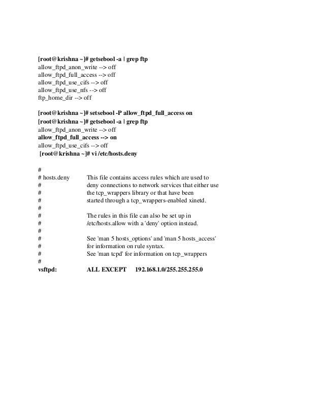 RHCE Sample Exam for RHEL 7