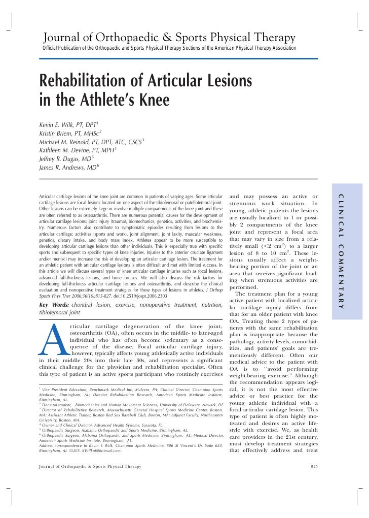 Journal of Orthopaedic & Sports Physical Therapy  Official Publication of the Orthopaedic and Sports Physical Therapy Sect...