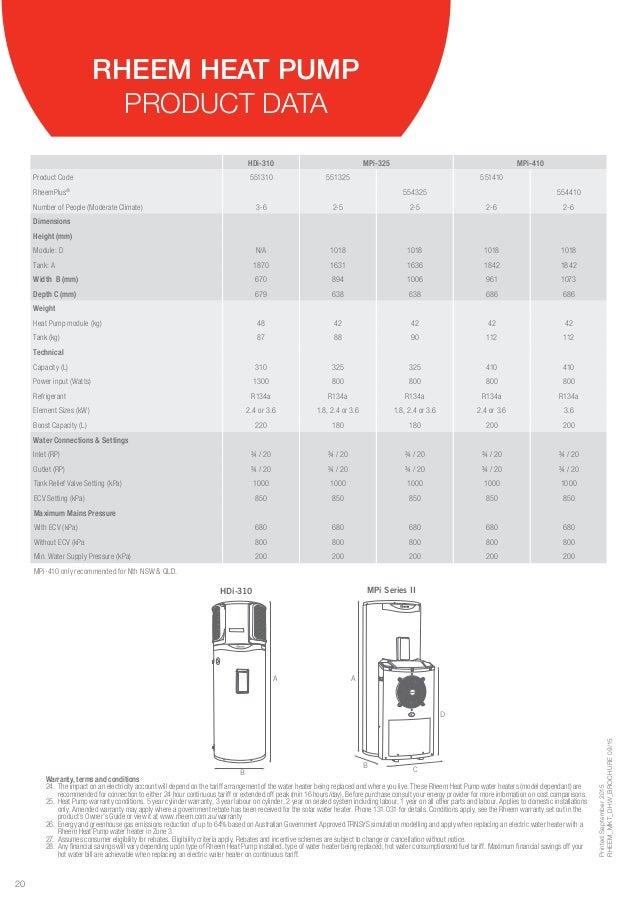 Rheem mpi-325 series ii heat pump 551325 & 554325 heat pump.