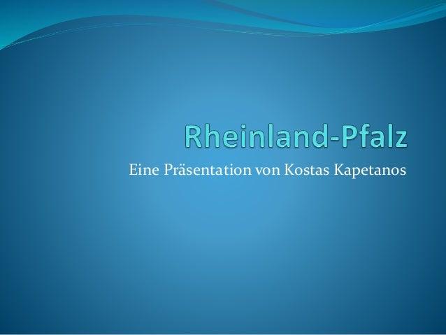 Eine Präsentation von Kostas Kapetanos