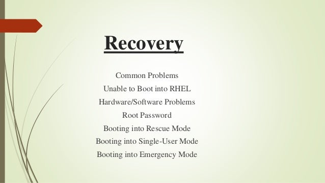 RHEL Log-files, RPM, Backup & Recovery