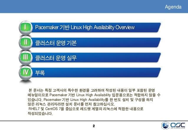 [오픈소스컨설팅]RHEL7/CentOS7 Pacemaker기반-HA시스템구성-v1.0 Slide 2