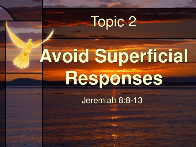 December 19 - Lessons From Jeremiah - Upper Room