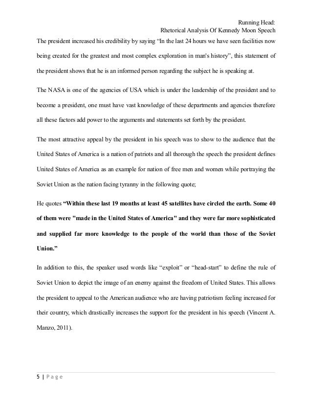 Speech analysis essay