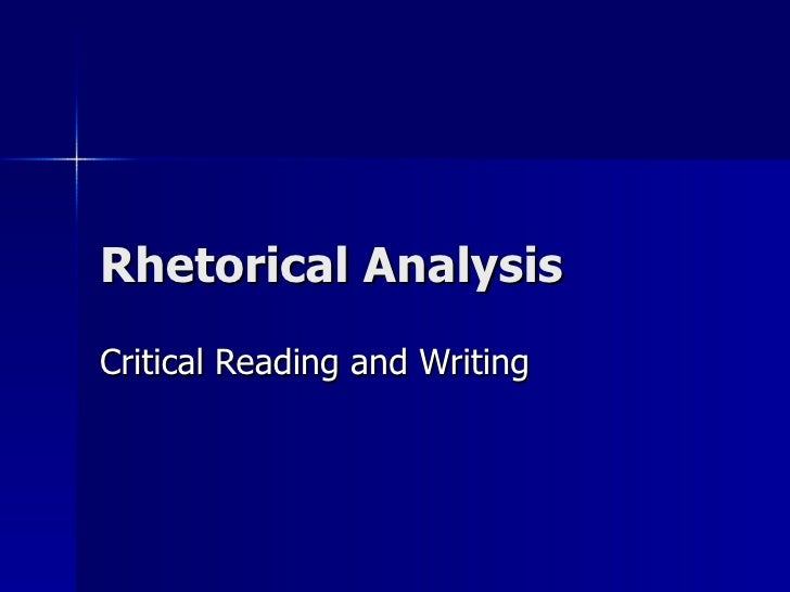 critical rhetorical analysis essay